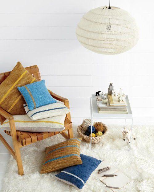 Martha Stewart living knit pillows
