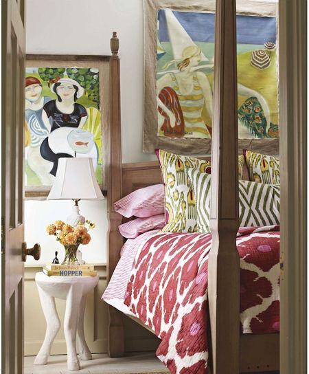 Ken Fulk, House Beautiful. Bright ikat