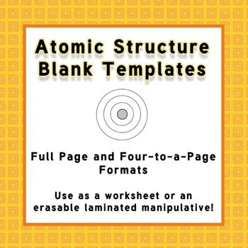atomic structure templates for laminated manipulatives or in the classroom pinterest to. Black Bedroom Furniture Sets. Home Design Ideas