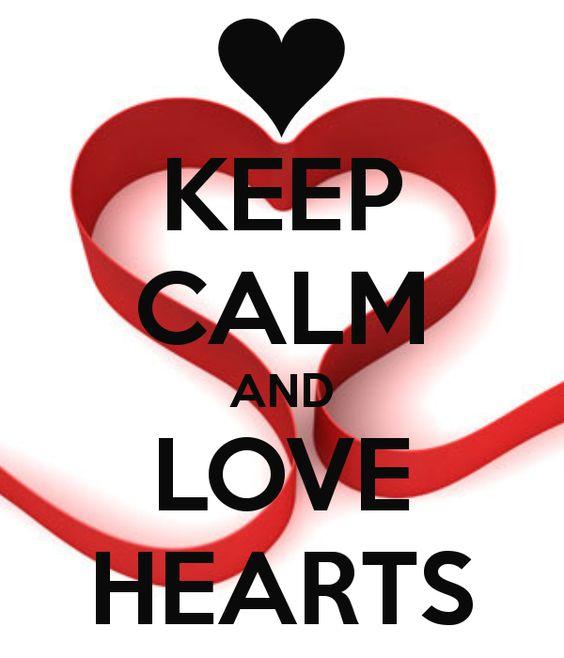 KEEP CALM AND LOVE HEARTS
