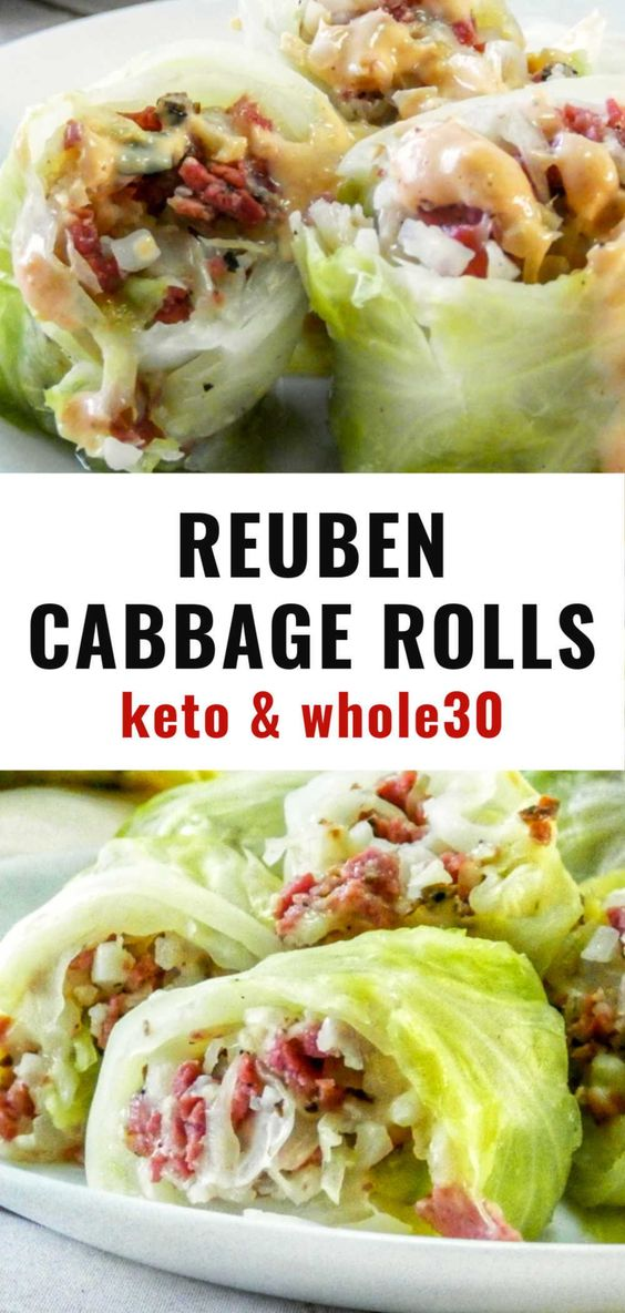 Reuben Cabbage Wraps
