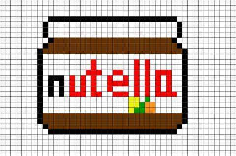 Nutella Pixel Art Emilie Fernandes Art Emilie