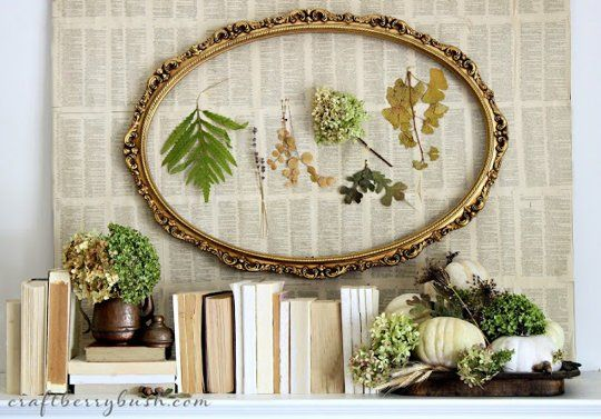 book-page backdrop, October Decorating Ideas: 9 Inspirational Fall Mantels