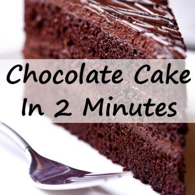 Minute Chocolate Cake Jorge Cruise