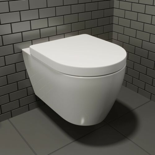 Bathroom Modern Wall Hung Toilet Pan Round Wc Soft Close Toilet Seat White Ebay Wall Hung Toilet Floating Toilet Modern Wall Hanging