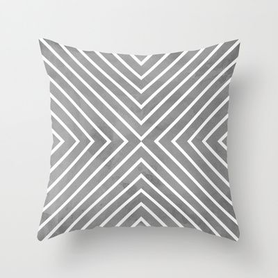 Buy Stripes in Grey by Brandy Coleman Ford as a high quality Throw Pillow. Worldwide shipping available at Society6.com. Just one of millions of products…