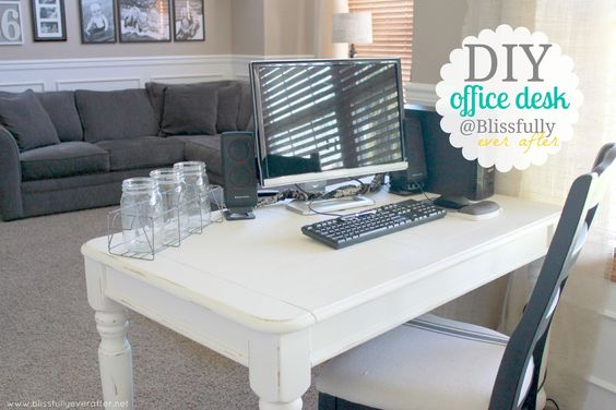 Coffee Table Turned Office Desk!