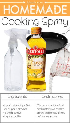 #20. Homemade Cooking Spray (You won't believe how easy this is!) -- 22 Everyday Products You Can Easily Make From Home (for less!) These are all so much healthier, too!