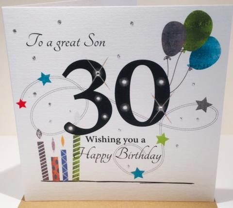 30th Birthday Card Son 30th Birthday Cards Birthday Cards For Son Birthday Card Messages
