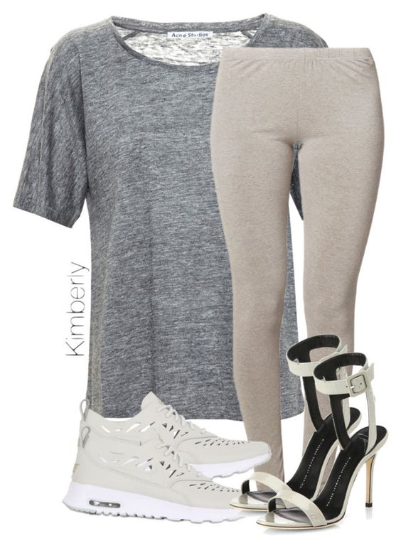 """Untitled #1878"" by whokd ❤ liked on Polyvore featuring Acne Studios, A Postcard From Brighton, NIKE and Giuseppe Zanotti"