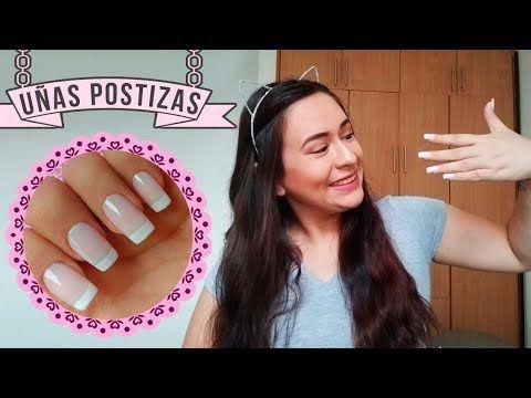 Como Poner Uñas Postizas Fácil Y En Casa Youtube Uñas Postizas Pinceles Para Uñas Quitar Uñas Postizas