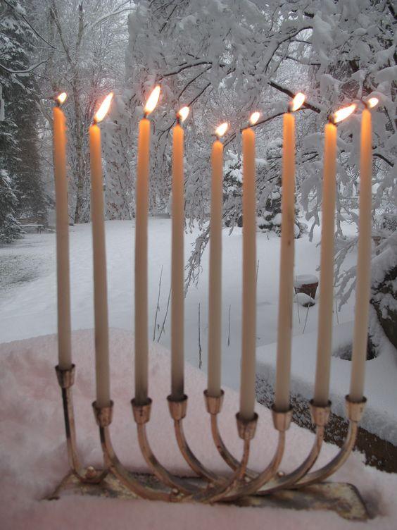 Menorah Snow And Vignettes On Pinterest