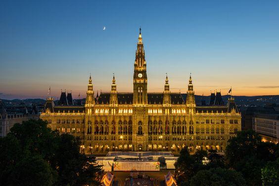 Ayuntamiento de Viena (Austria).