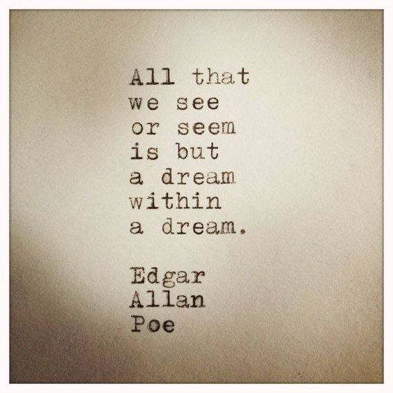 edgar allan poe dream within a A dream within a dream by edgar allan poe a dream within a dream learning  guide by phd students from stanford, harvard, berkeley.