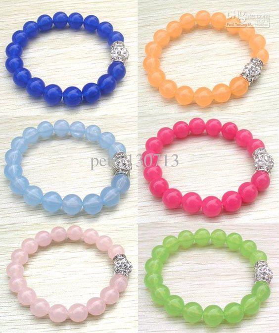Wholesale Beaded, Strands - Buy Brand New Women & Kids Mix Color Candy Acrylic Beads Beading Adjustable Bracelet Cheap Shamballa Jewelry, $0.69 | DHgate