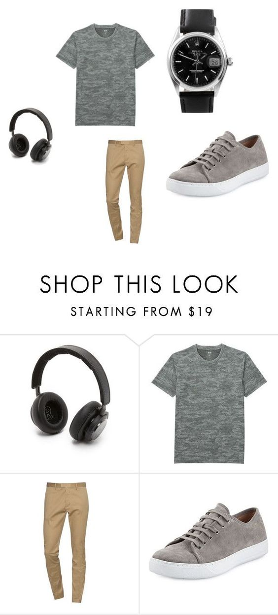 """""""Boys teen outfit"""" by kgrandall on Polyvore featuring B&O Play, Uniqlo, Dsquared2, Vince, Rolex, men's fashion and menswear"""