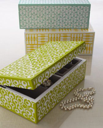 Rectangle Jewelry Box by Wolf Designs at Horchow.