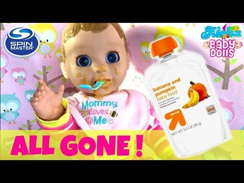 Luvabella S Messy Breakfast Can She Feed Herself Morning Feeding With Baby Food Changing Youtube Baby Food Recipes Baby Dolls Baby