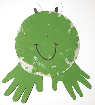 I am on a paint strike, but you could still do this with green construction paper.