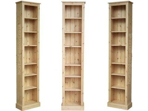 Tall Narrow Bookcase Solid Wood Tall Narrow Bookcase Bookcase Wood Bookcase