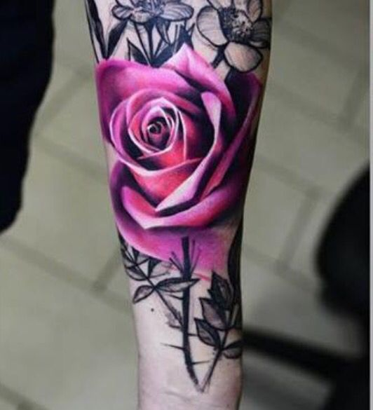 Flower tattoos, color & black & white I told my husband that Since he loves me so much, he could definitely get a beautiful Cranberry Red Rose,Peony or Amaryllis incorporated in their next tattoo instead of my name, for my name is rather long.  Laura Christina or LCLD.