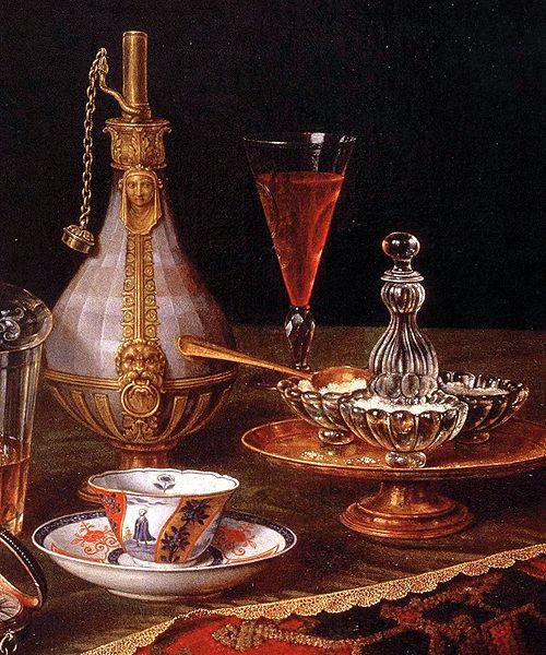 Christian Berentz (1658–1722) - L'orologio (detail):