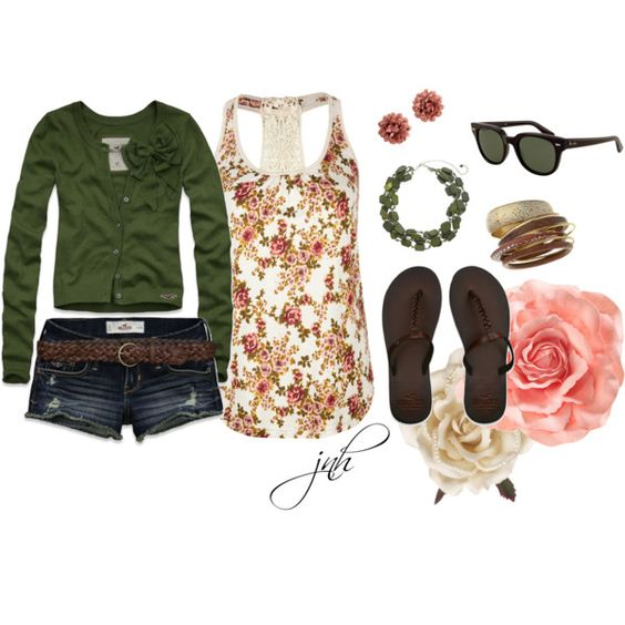"""""""floral"""" by jill-hammel on Polyvore"""