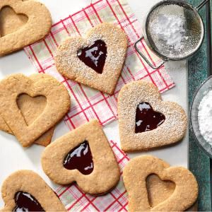 Linzer Heart Cookies Recipe from Taste of Home -- shared by Jane ...