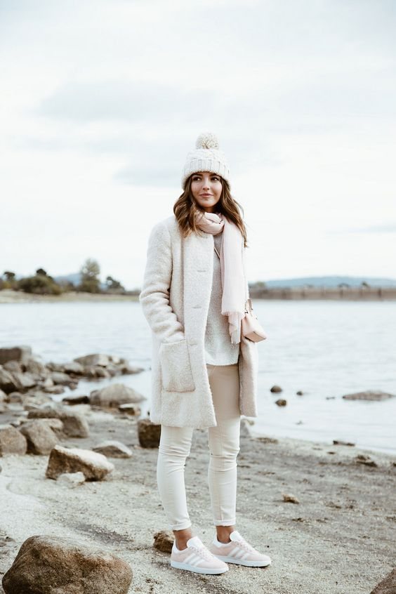all white winter outfit: