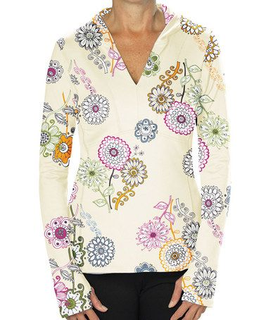 Look what I found on #zulily! Bright Floral Lola Hoodie by Stonewear Designs #zulilyfinds