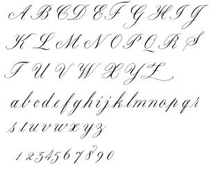 Printables Cursive Alphabet Letters old cursive alphabet spoodawgmusic calligraphy alphabet