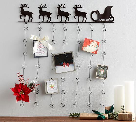 Reindeer Card Holder Christmas Card Display Reindeer Card Decor