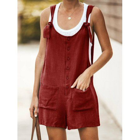 Coveralls Ollie Alls Bodysuit Romper Knotted Overalls