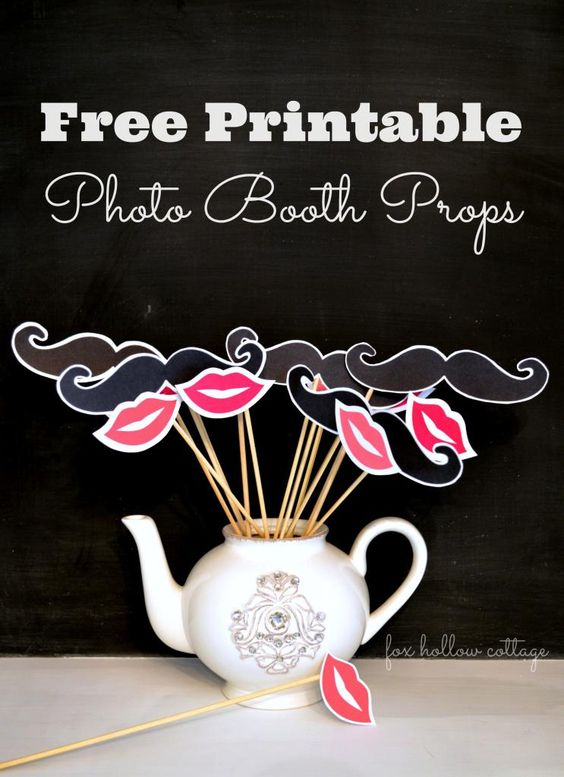 This is an image of Canny Free Printable Photo Booth Props Words