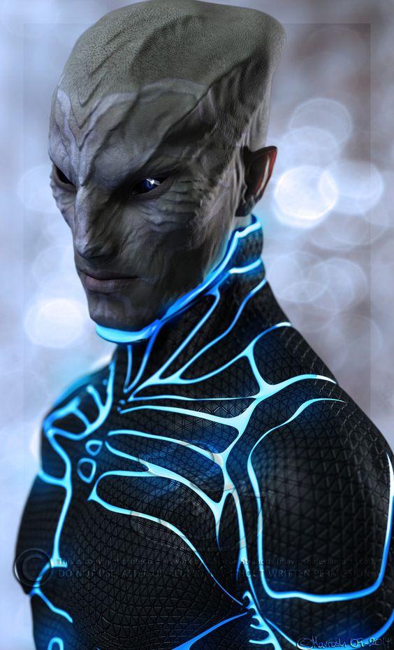 Alien Portrait by Mavrosh.deviantart.com on @deviantART: