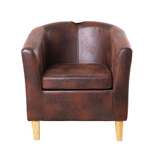 Foxhunter Faux Leather Tub Chair Armchair Dining Living Room