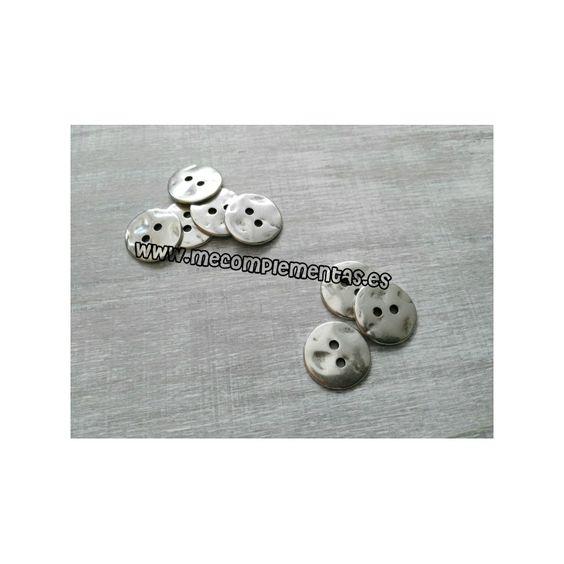 Adorno botón 22mm, zamak con baño de plata
