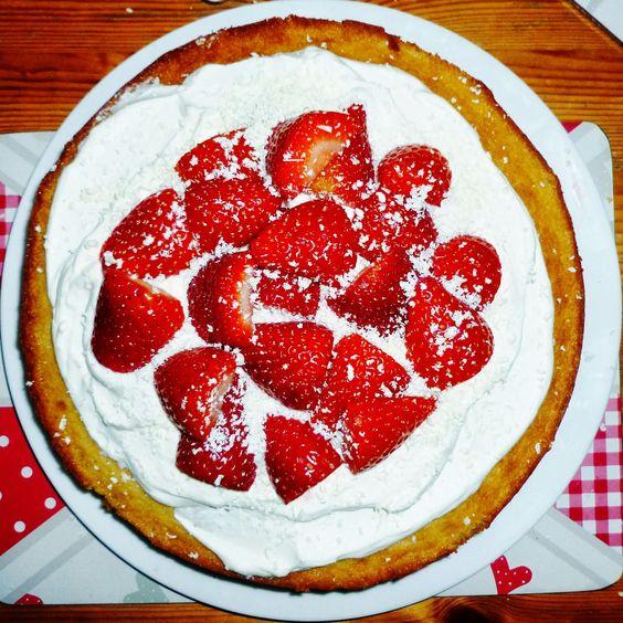 Strawberries and Cream White Chocolate Cake