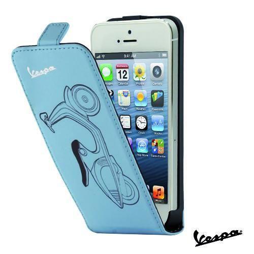Etui Rabat Vintage Vespa bleu iPhone 5 : Habillez votre iPhone 5 avec cet étui Vintage Vespa !