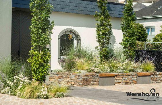 Wershofen Garten Design, Pflanzung , Weingut Adeneuer Ahrweiler - garten neu gestalten vorher nachher