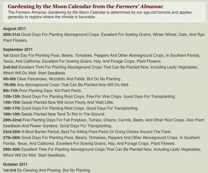 Farmers Almanac Gardening Calendar Flowers Gardening