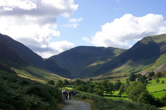 The beautiful fells (mountains) of Cumbria: