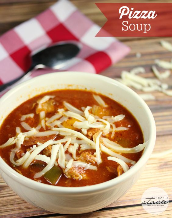 Pizza Soup - Enjoy the pizza flavor you love without the extra carbs. This slow cooker recipe is so yummy!