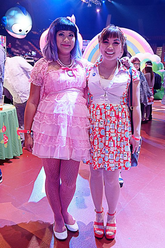 And some fans, like this pair, who were so cute they looked like they popped out of Hello Kitty's world! | 24 Photos Of The Wildest And Most Wonderful Fashion From The Hello Kitty Festival