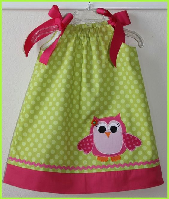 Super Cute Owl Applique Pillowcase Dress by weewhimsycouture (Etsy)- Charlotte's birthday dress