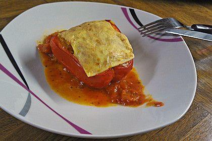 Gefüllte Paprika mit dreierlei Käse (Rezept mit Bild) | Chefkoch.de