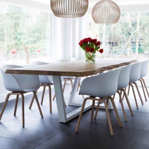 Table Cleopatre Live Edge En Chene Piece Unique In 2020 Dinning