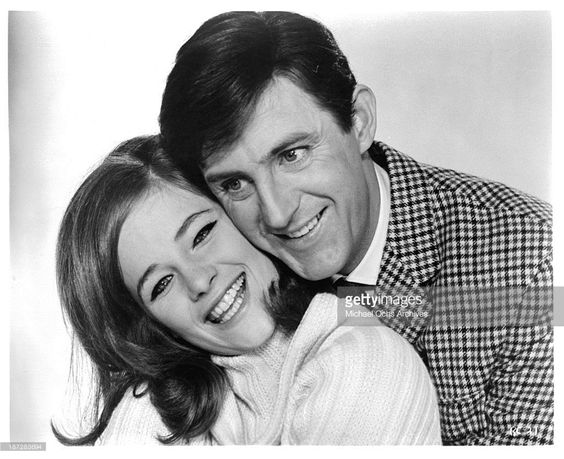 #Sixties   Charlotte Rampling and Anton Rodgers, stars of Rotten to the Core, 1965