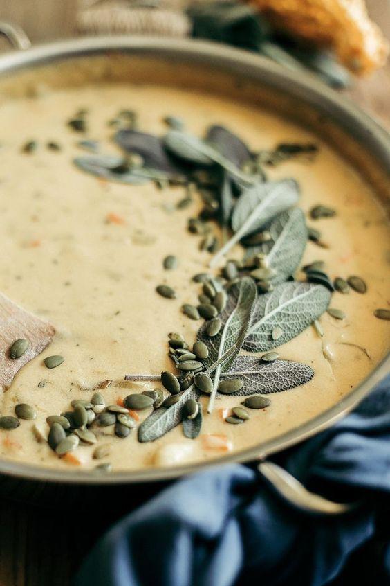 Pumpkin Beer & Sharp Cheddar Gnocchi Soup