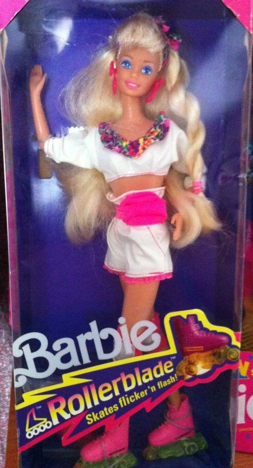 1991 Rollerblades Barbie - can still remember the smell of the rollerblades when lighting them up: